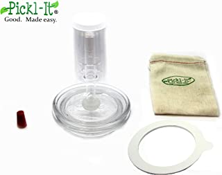 Pickl-It Original Fermentation Lid Kit Convert 'Fido' Jars For Anaerobic Pickling