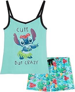 Disney Girls Short Pyjamas, Stitch Disney Gifts, Kids PJs Age 5 To 14 Years