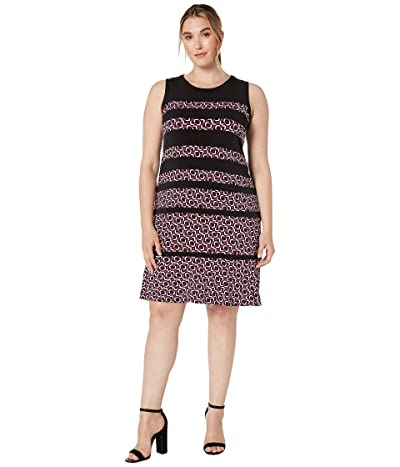 MICHAEL Michael Kors Plus Size Foulard Paneled Sleeveless Dress (Deep Fuchsia) Women