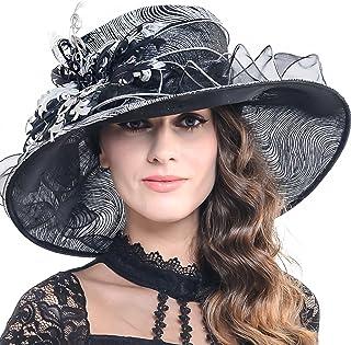 67719f3170e FORBUSITE Kentucky Derby Church Hats for Women Dress Wedding Hat