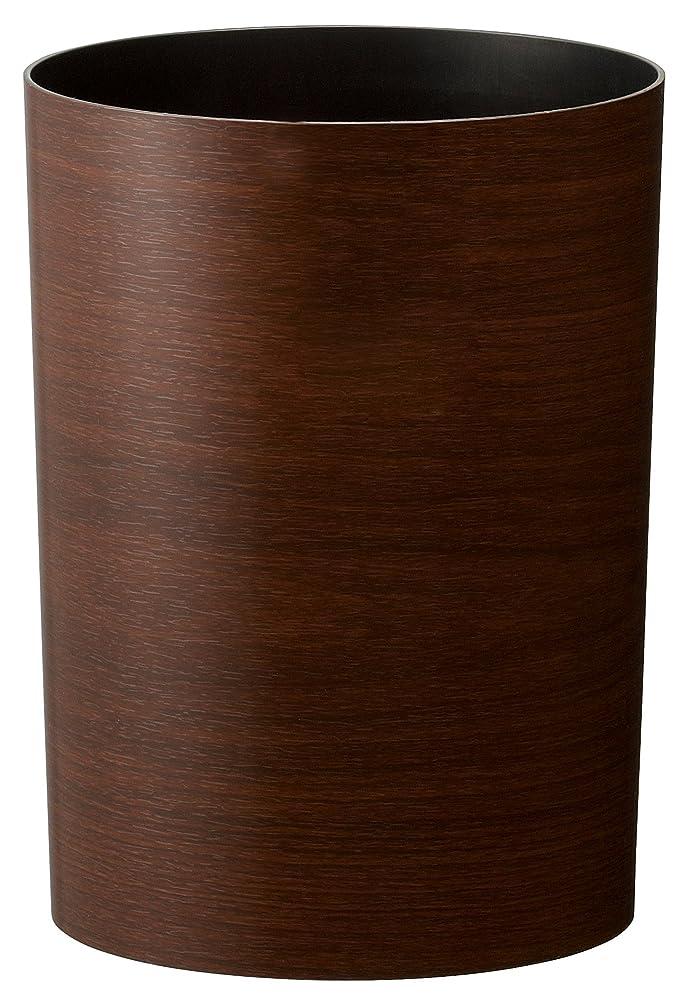 クルー拷問マントアスベル 木目調ゴミ箱S 「ルクレールコレクション」 4.7L ブラウン