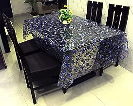 "Zakhro International Transparent Purple Flower Printed 150 Micron PVC Cloth (54""x54"" 4 Seater Square)"