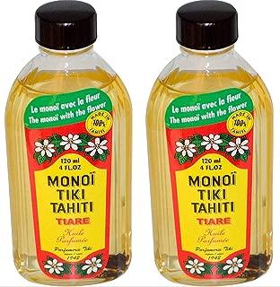 Monoi Tiare Tahiti Tiare Gardenia Coconut Oil (Pack of 2), Scented With Fresh Handpicked Tiare Flowers, 100% Made in Tahiti, 4 fl. oz.