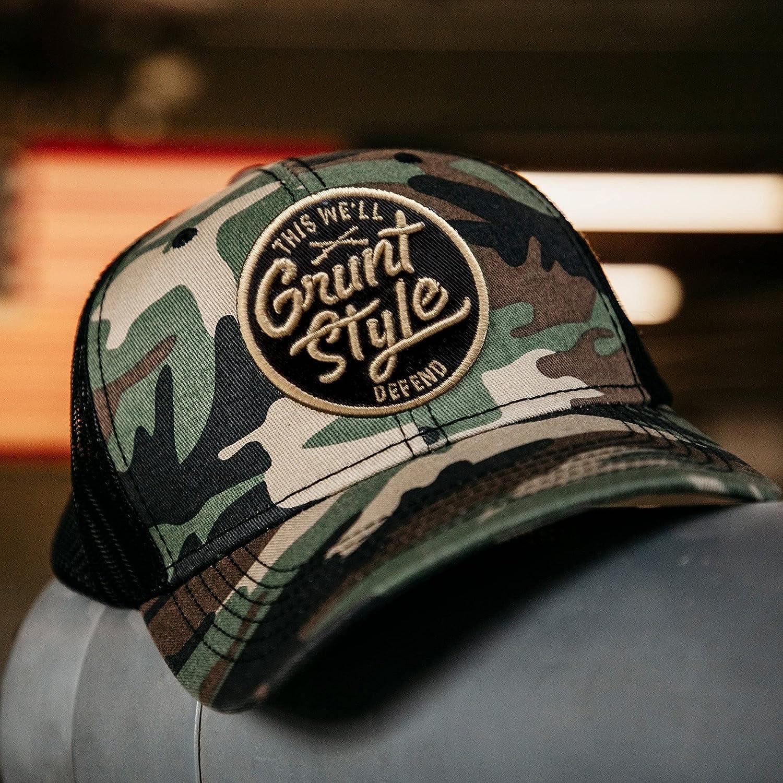 Grunt Style Script Logo Camo Hat (Camo, One Size)