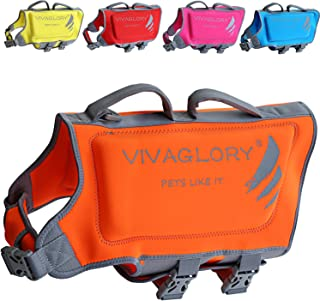 Premium Neoprene Dog Life Jackets with Superior Buoyancy and Rescue Handle, Skin-Friendly & Durable, Available in 5 Bright Colors & 5 Sizes