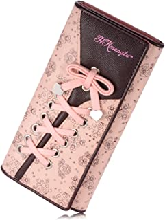 Women's Wallet Clutches Purse Long Leather Cute Shoe Purse With Bandage