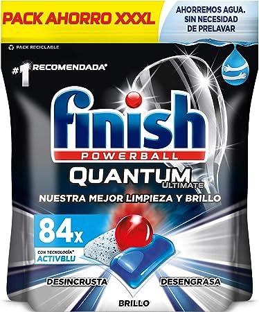 Finish Powerball Quantum Ultimate, pastillas para el lavavajillas - 84 unidades