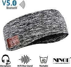 Ninge Sports Music Headband—Sleep Headphones with Bluetooth,Ultra-Thin HD Stereo Speakers - Sleeping,Jogging,Workout, Travel,Yoga - Gray