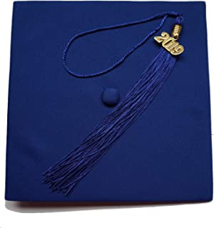 Matte Adult Unisex Graduation Cap With Tassel 2019 Year Charm Grad Days