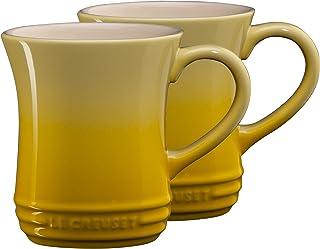 Le Creuset Soleil Yellow Stoneware 14 Ounce Tea Mug, Set of 2