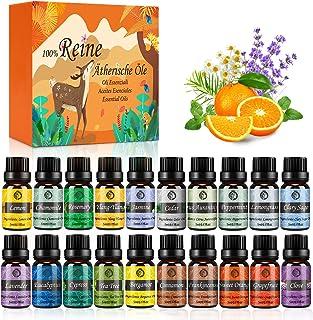 Huiles Essentielles Bio Naturelles Pures, Kit Huiles Essentielles 100% pour Aromathérapie Diffuseurs Ultrasons 20 Saveurs ...