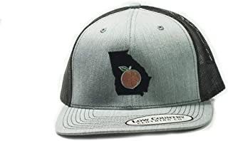 Low Country Clothing Company Official Georgia Peach Adjustable Hat - Embroidered on Richardson 112 Trucker Hat