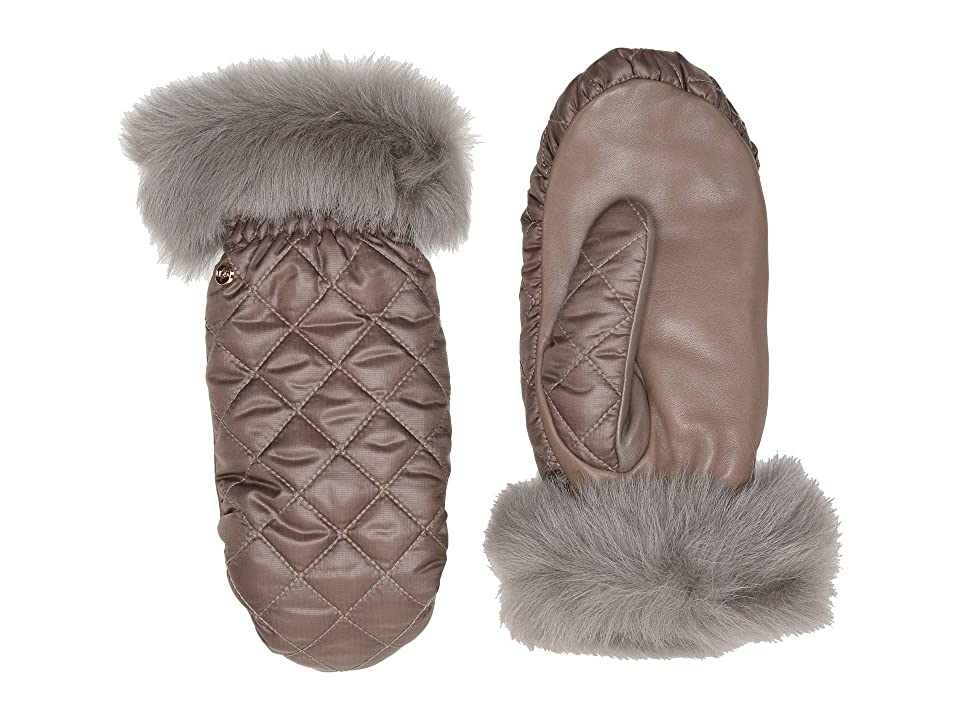 UGG Quilted All Weather Water Resistant Tech Mitten (Stormy Grey) Extreme Cold Weather Gloves