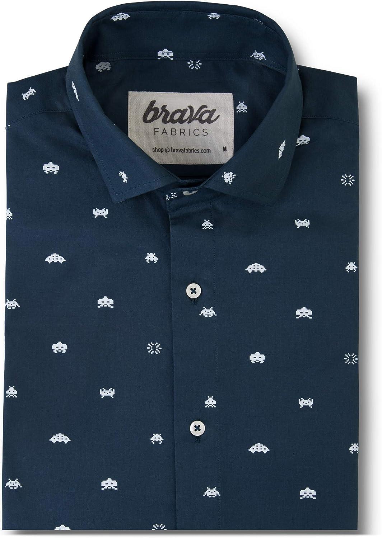 Brava Fabrics - - - Hemd Herren - Herren Freizeithemd - Hemd Herren - 100% Baumwolle - Modell Arcade B07767Z9H4  Ausgezeichnet 94698d