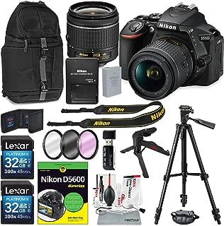 Nikon D5600 DSLR 相机和 18-55mm 镜头套件和书本适用于Dummies,Xpix 清洁配件和三脚架,滤镜+背包+更多