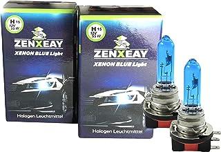 ZENXEAY H15 Xenon Optik Auto Lampe Tagfahrlicht Fernlicht   55W 12V   Super White Vision Halogen Birne   2 Stück