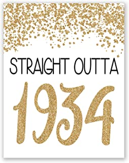 PGbureau 11x14 in 85th Gold Birthday Party Decoration – Cheers to 85 Years Poster – Happy 85th Sign – for Men and Women - Anniversary