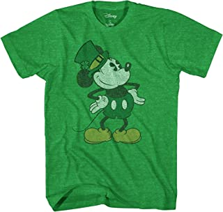 Mickey Mouse Pose St. Patrick's Day Men's Adult Graphic Tee T-Shirt