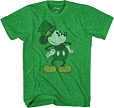Disney Mickey Mouse Pose St. Patrick's Day Men's Adult Graphic Tee T-Shirt