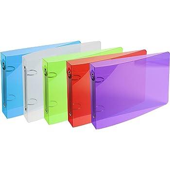 1 Classeur pour fiches bristol 100x150 2 anneaux 25mm polypropyl/ène Crystal colours