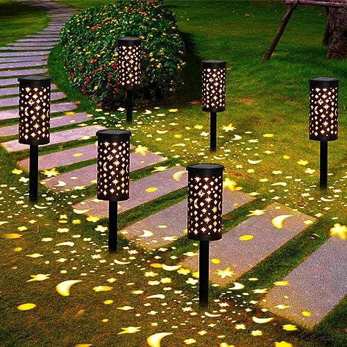 Lámparas Solares para Jardín Golwof 6 Piezas Luz Solar Exterior Jardin Luces Solares Jardin Exterior Decorativas Faro...