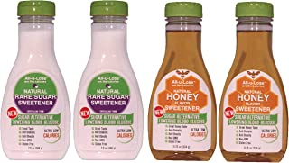 Crystalline & Honey (Mixed Pack 2 ea 11.75 oz). All-u-Lose Natural Rare Sugar Sweeteners, Non-GMO Allulose , Honey made with Allulose and Monkfruit
