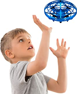 Force1 Hand Operated Drones for Kids or Adults - Scoot Hands Free Mini Drone Helicopter, Easy Indoor Small Orb Flying Ball Drone Toys for Boys or Girls (Blue)