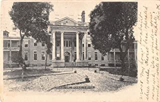 Mare Island California view of the hospital entrance courtyard antique pc Y4034