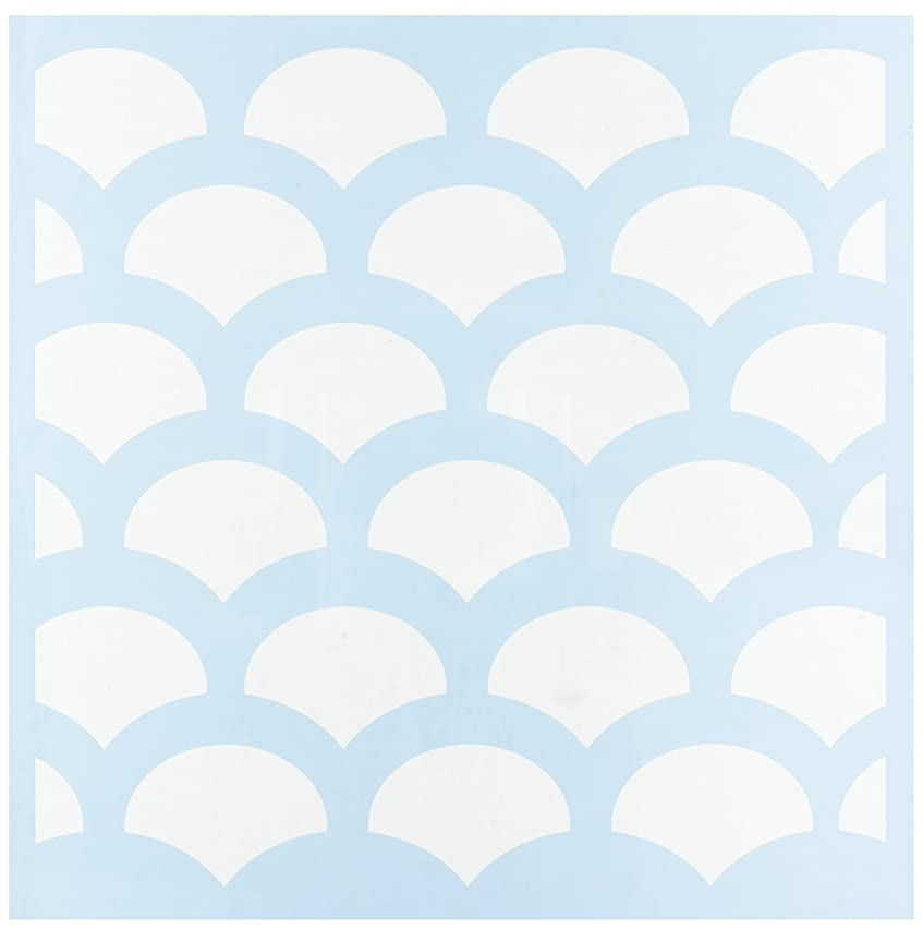 CLEARSNAP Clear Scraps Fish Scales Stencils, 12 by 12