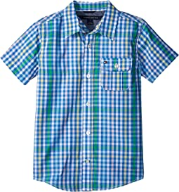 Tommy Hilfiger Kids - Short Sleeve Chris Yarn-Dye Plaid Shirt (Big Kids)