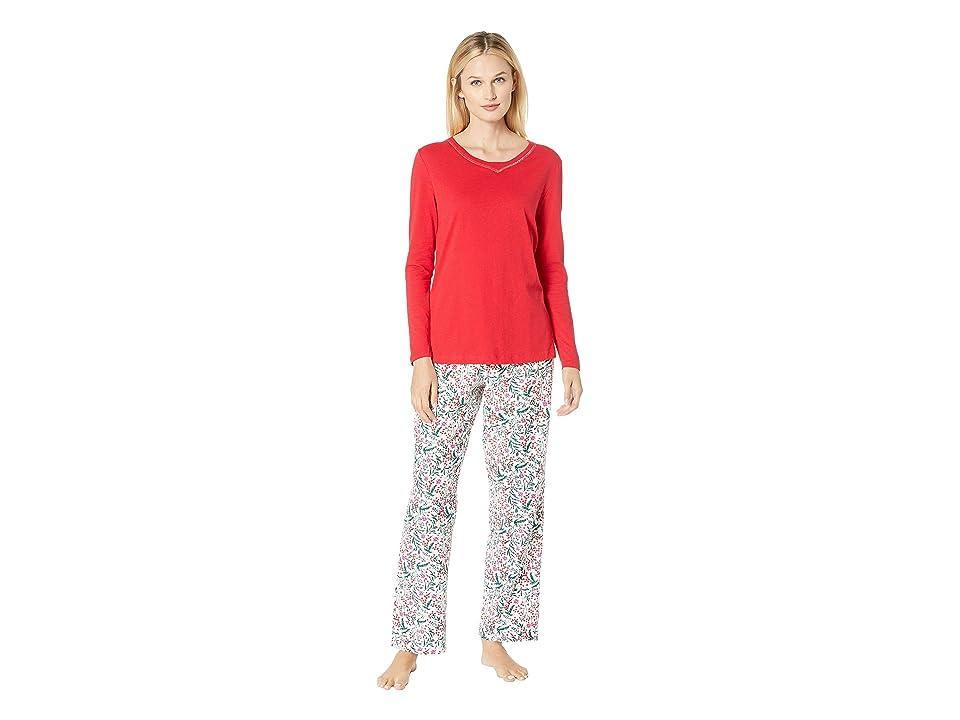 Nautica Cotton Flannel Pajama Set (Cold Berry) Women