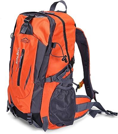 Qhui - Mochila unisex para senderismo, impermeable, grande, para escalada, camping y viajes