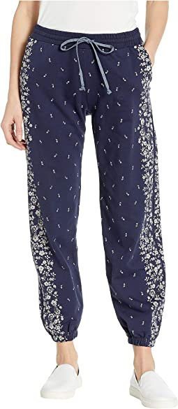 Floral Placed Sweatpants