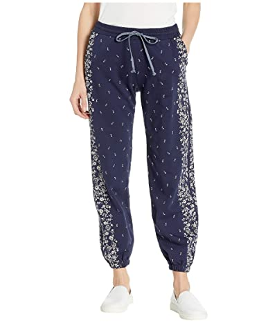 Lucky Brand Floral Placed Sweatpants (American Navy) Women
