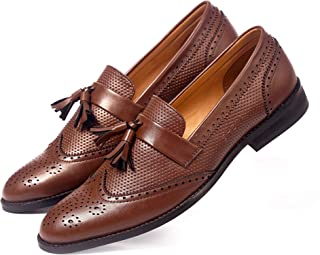 NICHE Brown Semi Brogue Tassel Loafer