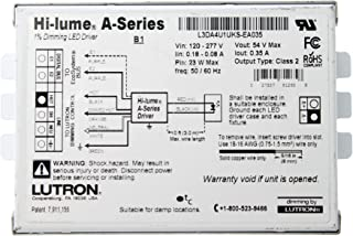 Lutron L3DA4U1UKS-EA035 Hi-Lume 1% Dimming LED Driver, 120/277V-In, 54VDC @ 23W Out