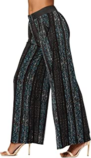 Premium Women's Palazzo Pants with Pockets - High Waist -...