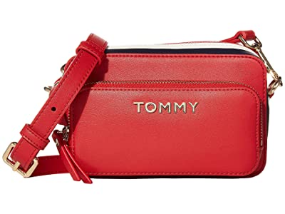 Tommy Hilfiger Corporate Camera (Barbados Cherry) Cross Body Handbags