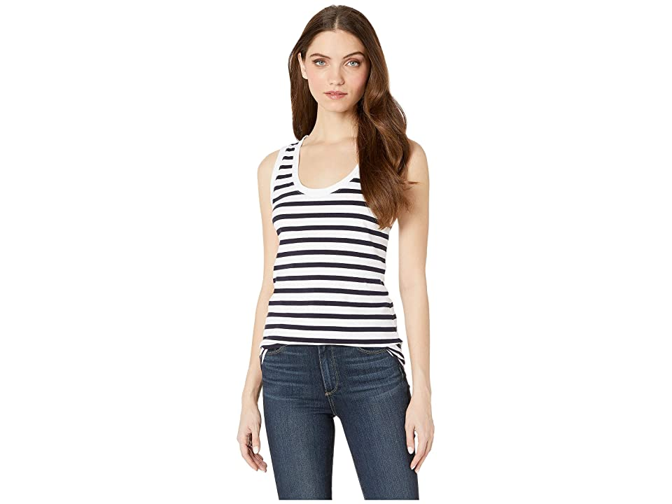 Image of AG Adriano Goldschmied Cambria Tank (True White/Deep Aegean) Women's Clothing