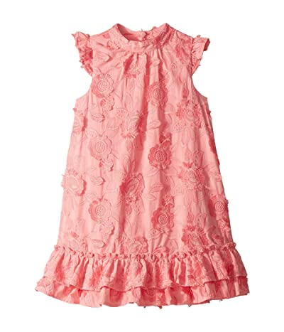 Janie and Jack Ruffle Sleeve Tiered Lace Dress (Toddler/Little Kids/Big Kids) (Pink) Girl