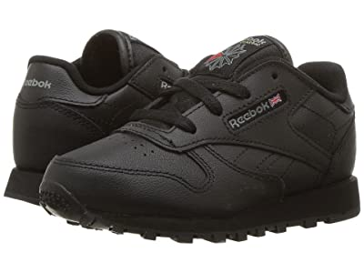 Reebok Kids Classic Leather (Infant/Toddler) (Black) Kids Shoes