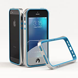 Bumper case for Apple iPhone SE Slimline Tough Multiple Colors Available (Blue, Silver Bumper)