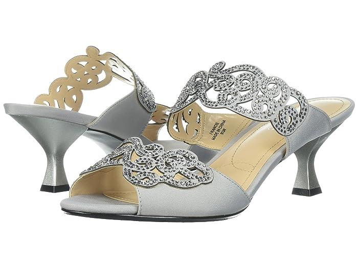 Vintage Boots- Buy Winter Retro Boots J. Renee Francie Silver High Heels $98.95 AT vintagedancer.com