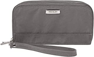 Travelon: Double Zip Wallet - Smoke