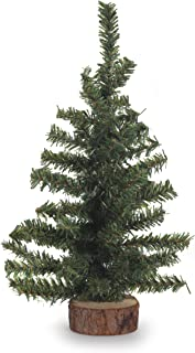 Darice Canadian Pine Tree with Wood Base: 60 Tips, 12 inches, 12