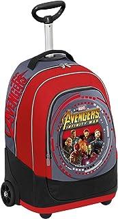 Big Trolley Marvel , Avengers Infinity War , Rojo Gris , 30 Lt , 2in1 Mochila con Ruedas , Escuela y Viaje
