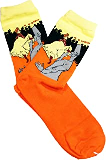 Ladies Novelty Art Crew Socks - Moulin Rouge (Can Can) by Henri de Toulouse Lautrec -