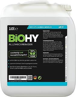 BiOHY Limpiador multiuso, Limpiador de alcohol, Limpiador universal (Bote de 10 litros) | Limpiador Profesional de Mantenimiento - Producto de Limpieza ecológico (Allzweckreiniger)