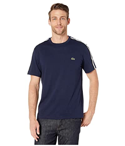 Lacoste Short Sleeve Jersey T-Shirt (Navy Blue) Men