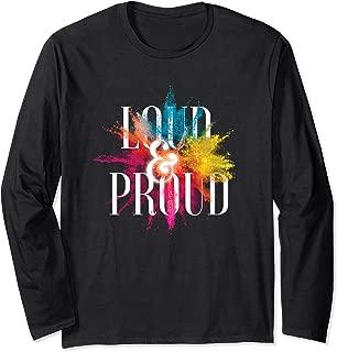 Loud and Proud Colour Splash Long Sleeve T-Shirt
